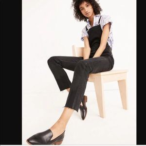 Madewell Overalls Jeans Raw Hem Black M